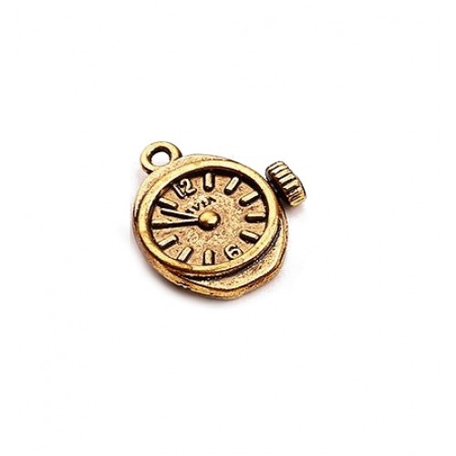 Металлический декор Часы Стимпанк Золото 2х1.5 см фото