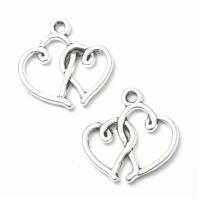 Металлический декор Сердце №2 Серебро, 2х1.7 см
