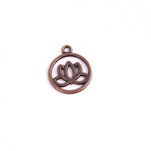Металлический декор Лотос №5 Медь, 2,5x3 см