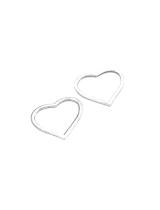 Металлический декор Сердце №15  Серебро, 2х2.5 см
