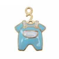 Металлический декор Бодик голубой, 15х20 мм