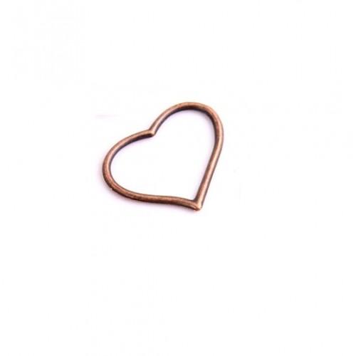 Металлический декор Сердце № 504 Медь, 3х2.3 см