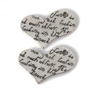 Металлический декор Сердце №24 Серебро, 2х1.5 см