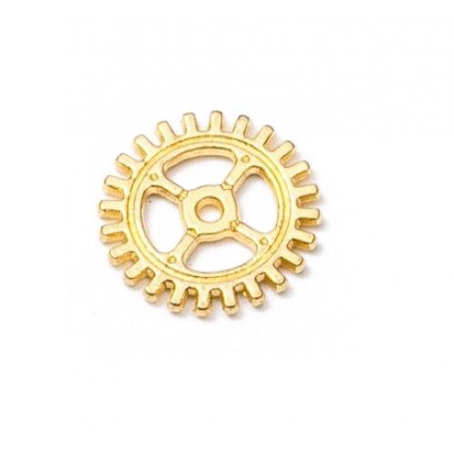 Металлический декор Шестеренка №8 Золото, 10 мм