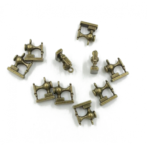 Металлический декор Швейная машинка, 15х12 мм