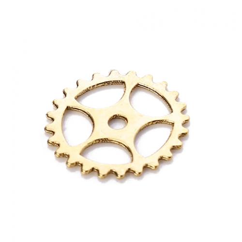 Металлический декор Шестеренка №2 Золото 15 мм фото
