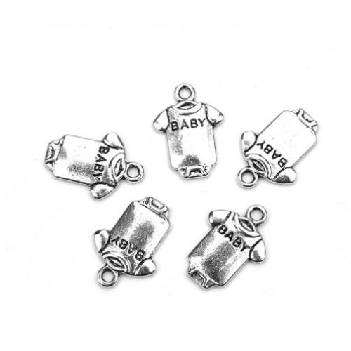 Металлический декор Бодик Baby Серебро 1.7х1.3см фото