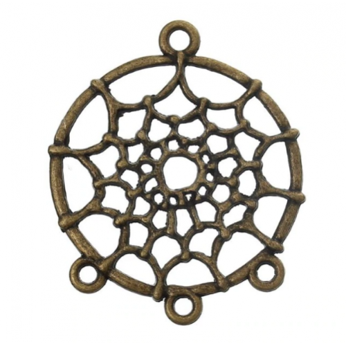 Металлический декор Ловец снов Бронза 3 см фото