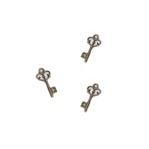 Металлический декор Ключ №9 Бронза 2.8х0.8 см фото