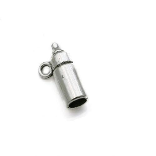 Металлический декор Бутылочка серебро 1.5х0.5 см фото