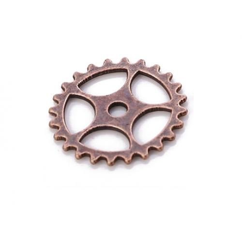 Металлический декор Шестеренка №2 Медь 15 мм фото