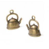 Металлический декор Чайник бронза, 15х20 мм