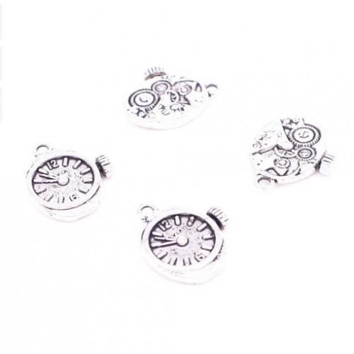 Металлический декор Часы Стимпанк Серебро 2х1.5 см фото