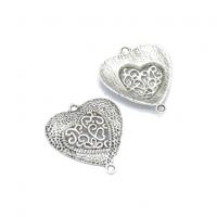 Металлический декор Сердце №37 серебро, 30х35 мм