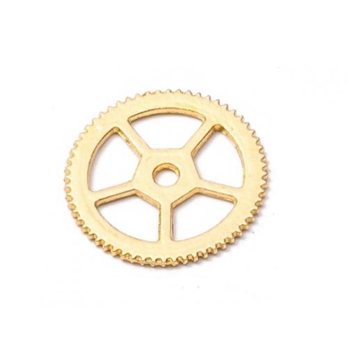 Металлический декор Шестеренка №1 Золото 17 мм фото