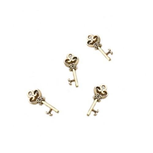 Металлический декор Ключ №10 Золото 2.1х0.8 см фото