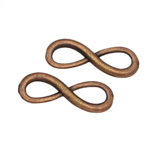 Металлический декор Знак бесконечности №1 Медь, 2.2х0.6 см