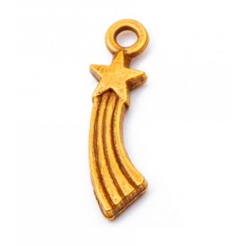 Металлический декор Падающая звезда Золото, 2х0.5 см