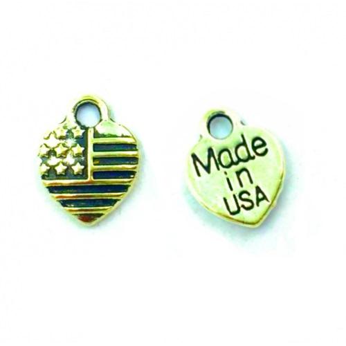 Металлический декор Сердце MADE IN USA  Золото 1х1 см фото