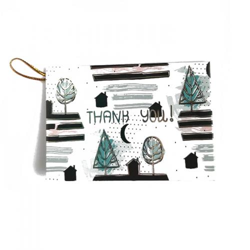 Мини-открытка Thank you # 5, 9х6.5 см