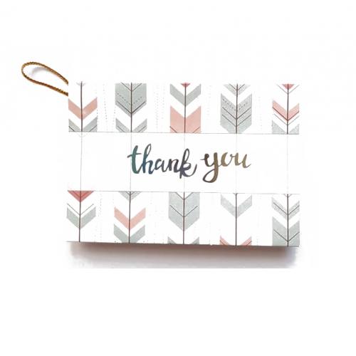 Мини-открытка Thank you # 8, 9х6.5 см