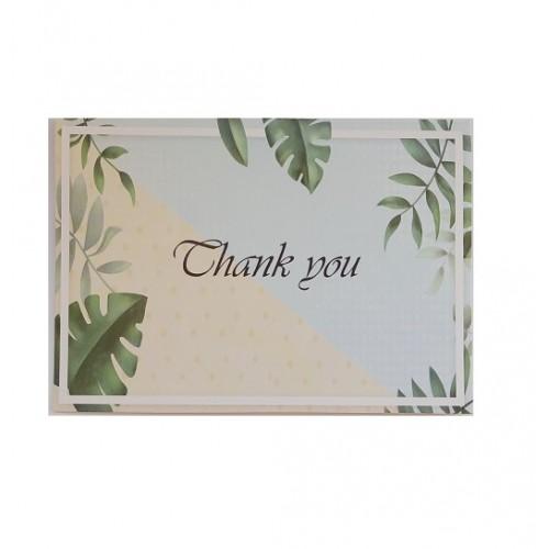 Мини-открытка Thank you # 85, 12.3х8.7см