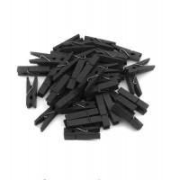 Прищепка деревянная Черная, 3.5 см