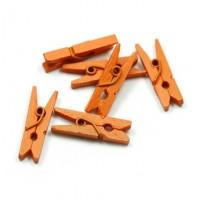 Прищепка деревянная Оранжевая, 3.5 см