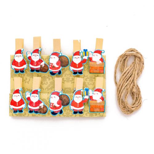 Набор прищепок декоративных Санта Клаус, фото