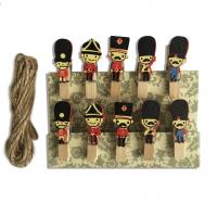 Набор прищепок декоративных Солдатики, 10 шт