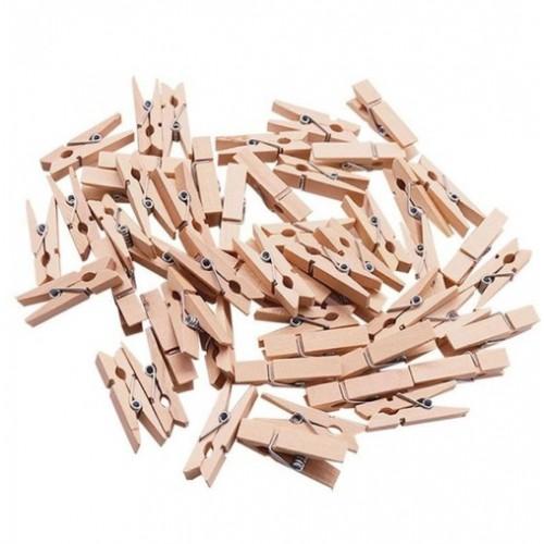 Прищепка деревянная 3 см фото