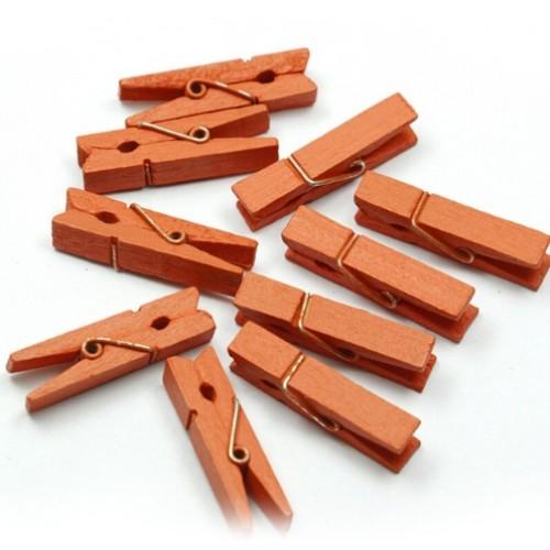 Прищепка деревянная Лососевый 3.5 см фото