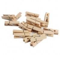 Прищепка декоративная деревянная, 3.5 см