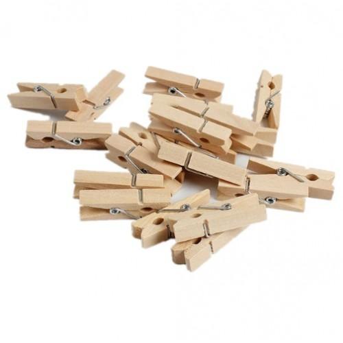Прищепка декоративная деревянная 3.5 см фото