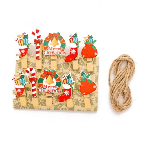 Набор прищепок декоративных Merry Christmas, 10 шт