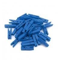 Прищепка деревянная Синяя, 2.5 см
