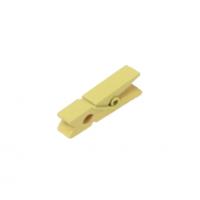 Прищепка деревянная Желтая, 3.5 см