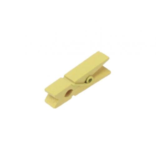 Прищепка деревянная Желтая 3.5 см фото