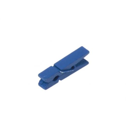 Прищепка деревянная Синяя 3.5 см фото