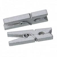 Прищепка деревянная Серебро, 3.5 см