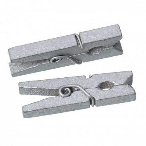 Прищепка деревянная Серебро, 2.5 см