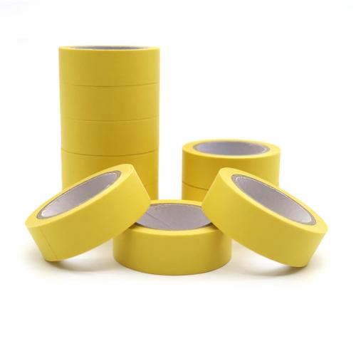 Декоративный бумажный скотч Желтый фото