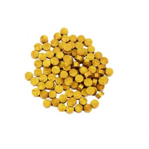 Сургуч в гранулах темное золото перламутровый, 9 мм