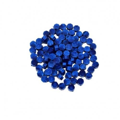 Сургуч в гранулах синий перламутровый, 9 мм