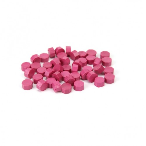Сургуч в гранулах темно-розовый, 9 мм