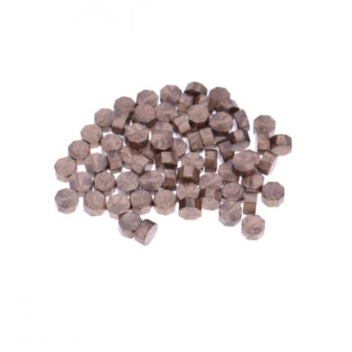 Сургуч в гранулах капучино перламутровый, 9 мм