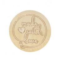 Сменная насадка для сургучной печати Made with love (Сделано с любовью), 2.5 см