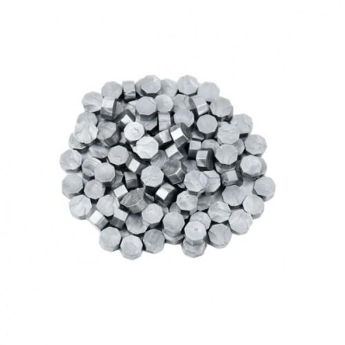 Сургуч в гранулах серебро перламутровый, 9 мм
