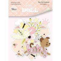 Набор высечек для скрапбукинга Doll Baby от Scrapmir, 58 шт