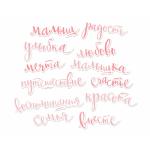 Ацетатные высеченные слова c фольгированием (Pink) от Scrapmir 12шт фото